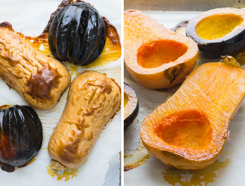 roasting squash for Roasted Butternut Squash Soup