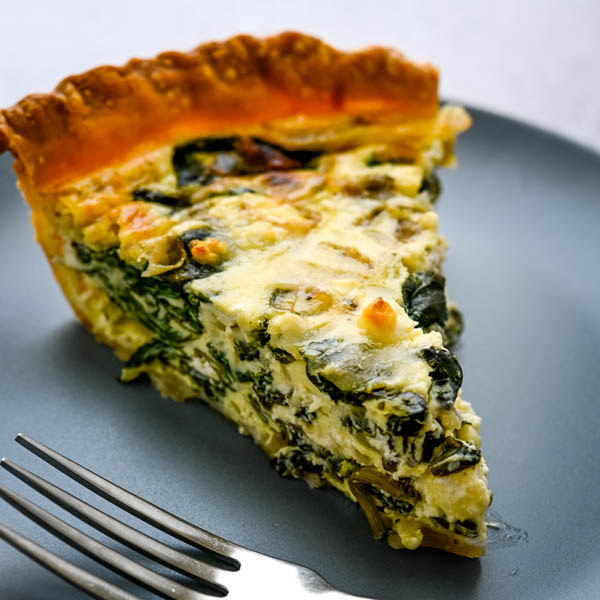 Fresh Spinach and Goat Cheese Quiche