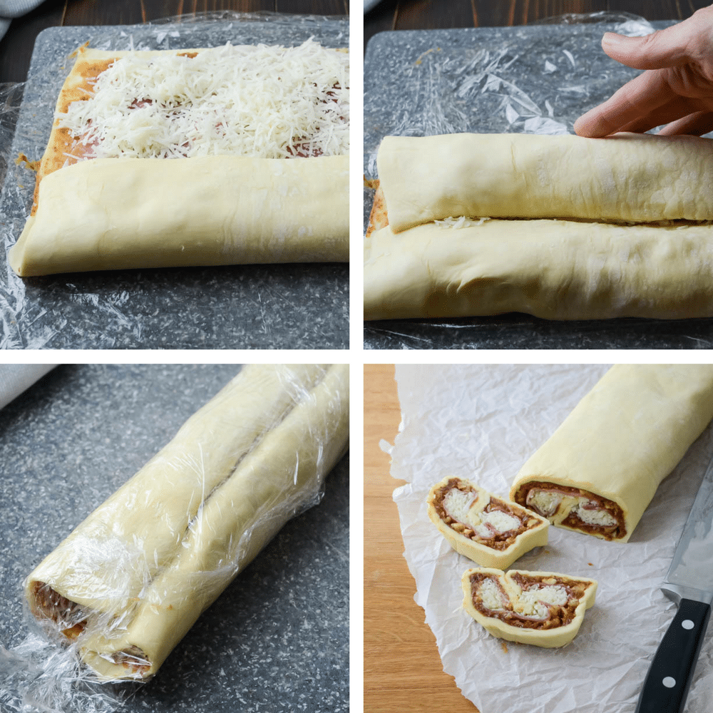 how to roll up palmiers.