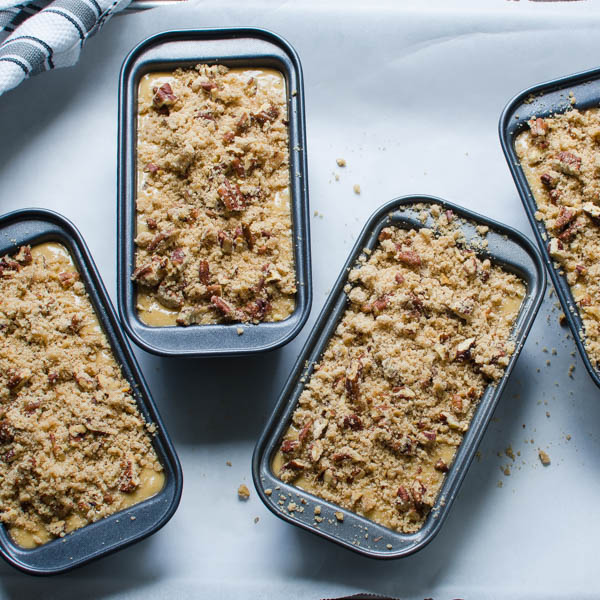 adding streusel to quick breads