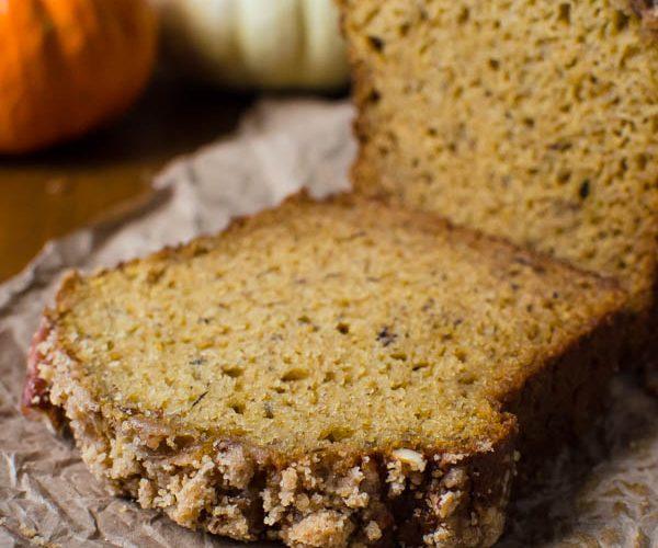 Banana Pumpkin Streusel Quick Bread