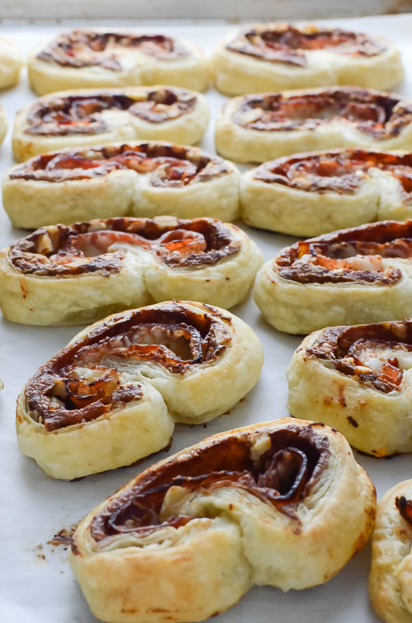 Baked Prosciutto and Date Palmiers