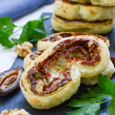 Prosciutto and Date Palmiers