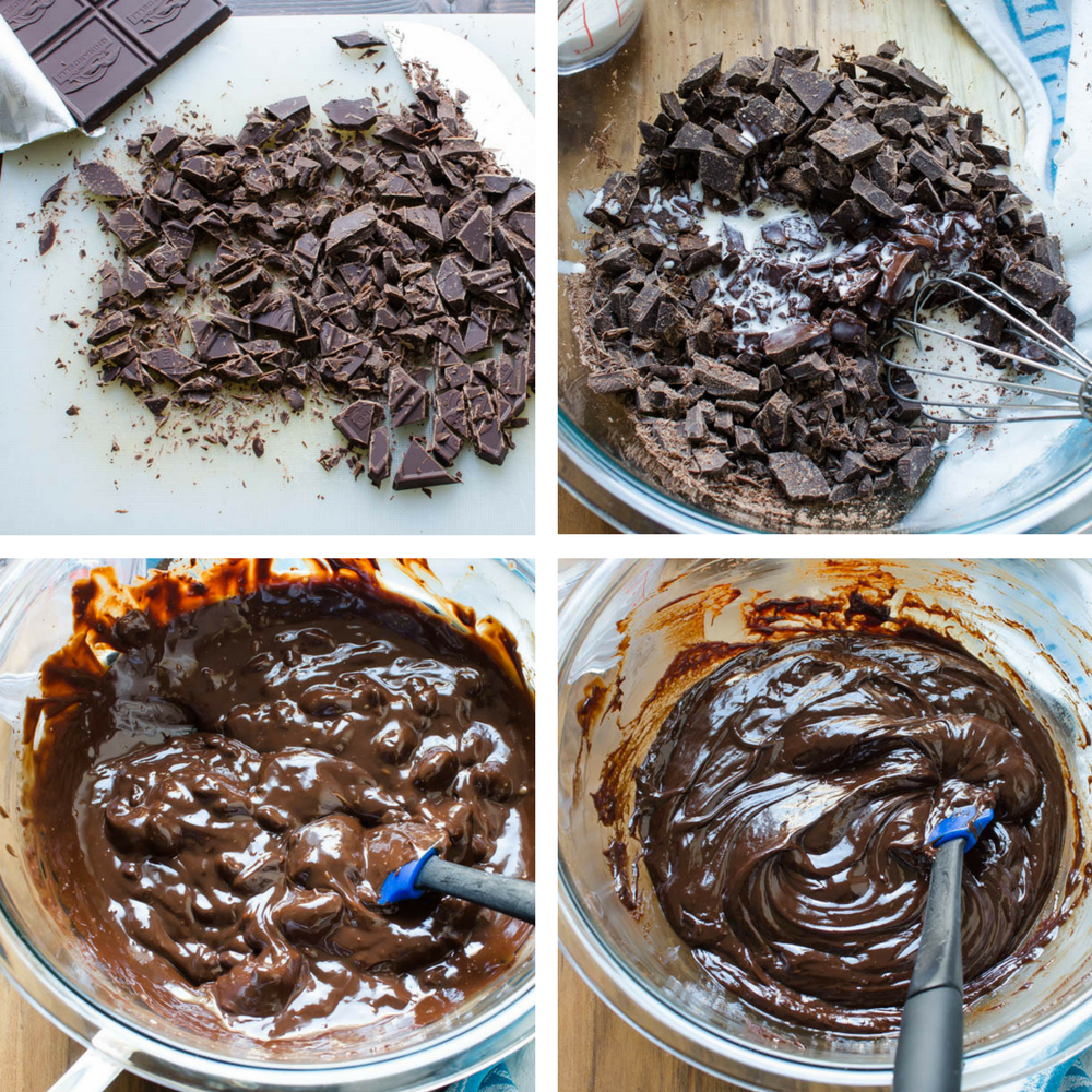 stages of melting chocolate