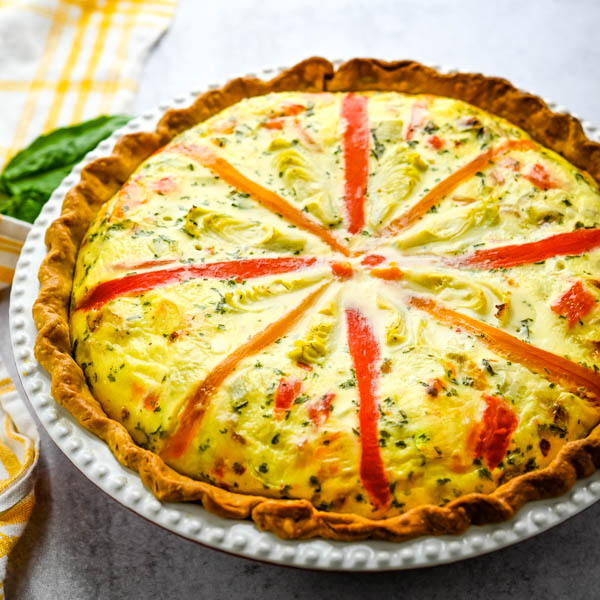 puffed egg pie hot from the oven.
