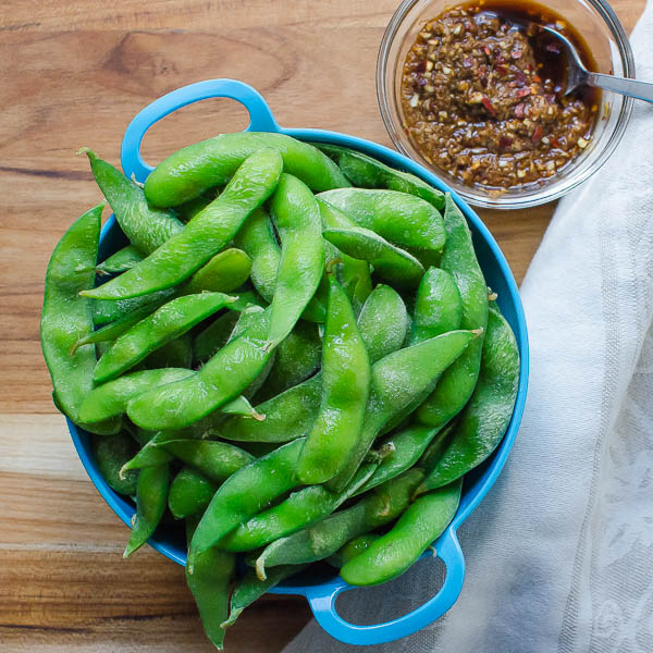 edamame and asian marinade