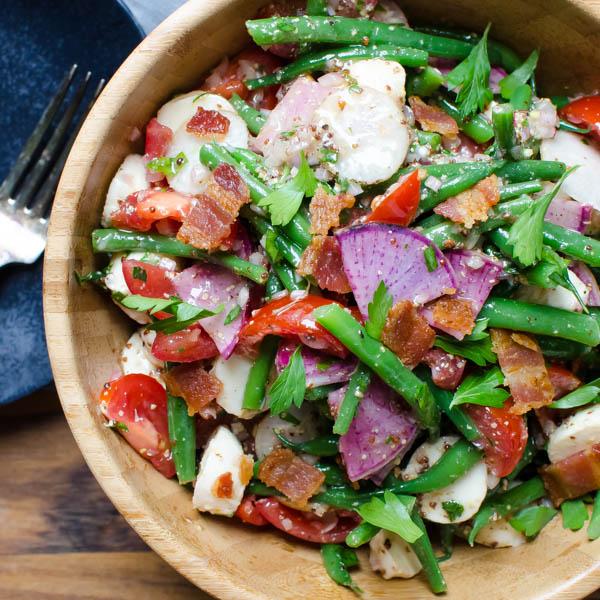 Tangy Green Bean Ciliegene Salad | Garlic + Zest