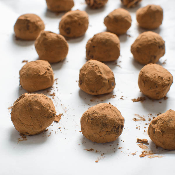 Truffles Two Ways rolled in cocoa