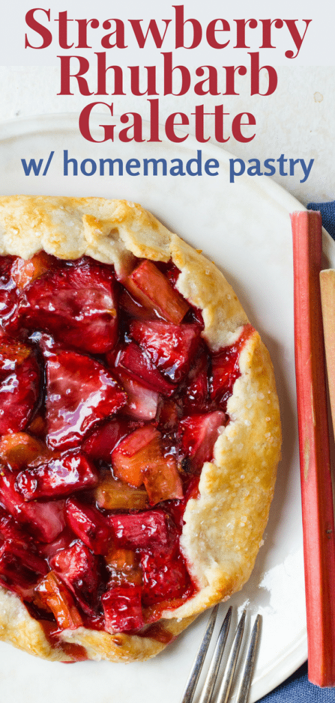Want the best summer fruit desserts? This easy tart recipe mixes fresh summer fruit with a homemade pastry crust for an amazing strawberry rhubarb galette! #strawberry #rhubarb #strawberryrhubarb #pie #tart #galette #crostata #homemadepastry #homemadepiecrust #strawberryrhubarbtart #strawberrygalette #easytartrecipe #easyrhubarbrecipe #summerfruitdesserts #rusticfruittart