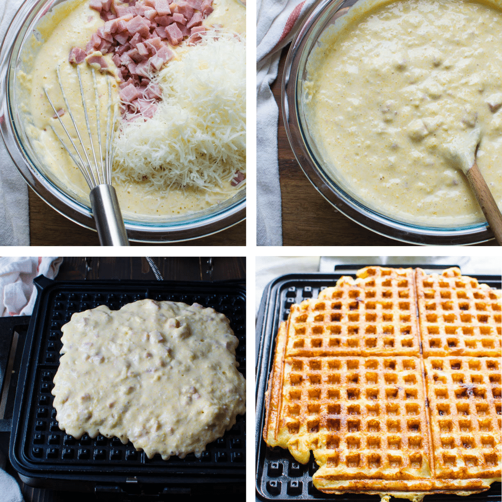 steps to making waffles