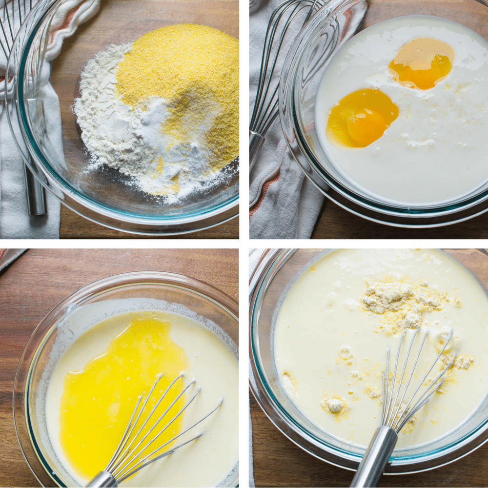 steps to make cornmeal batter