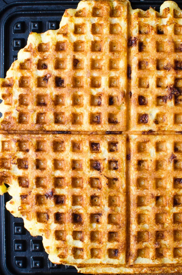 waffles on a griddle