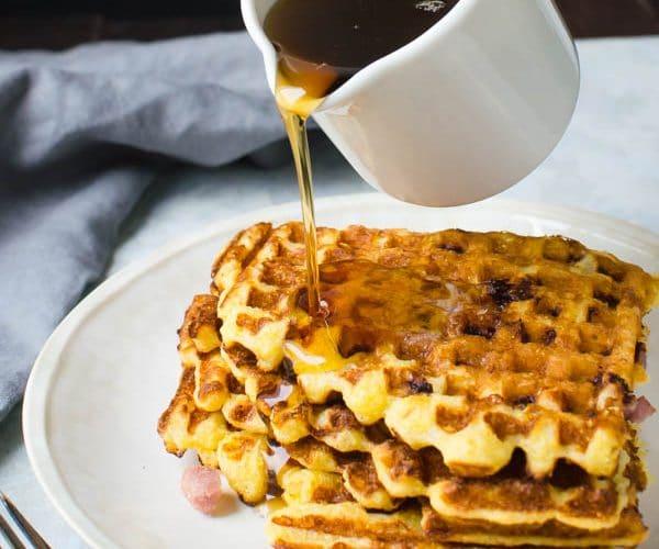 Ham and Manchego Waffles