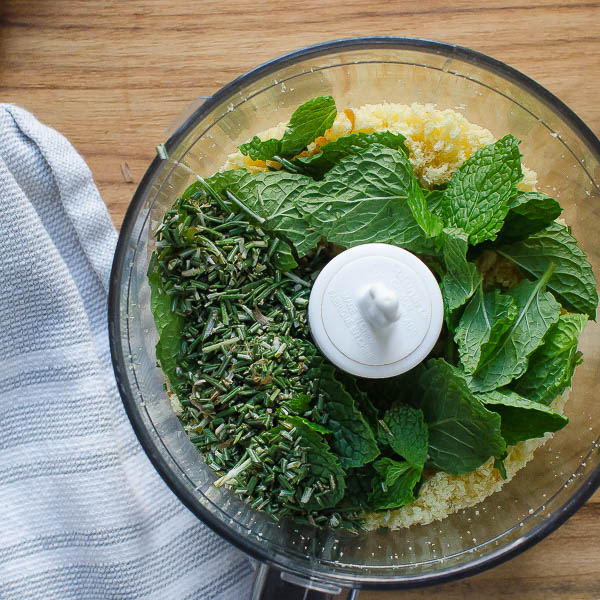 breadcrumbs with mint and rosemary