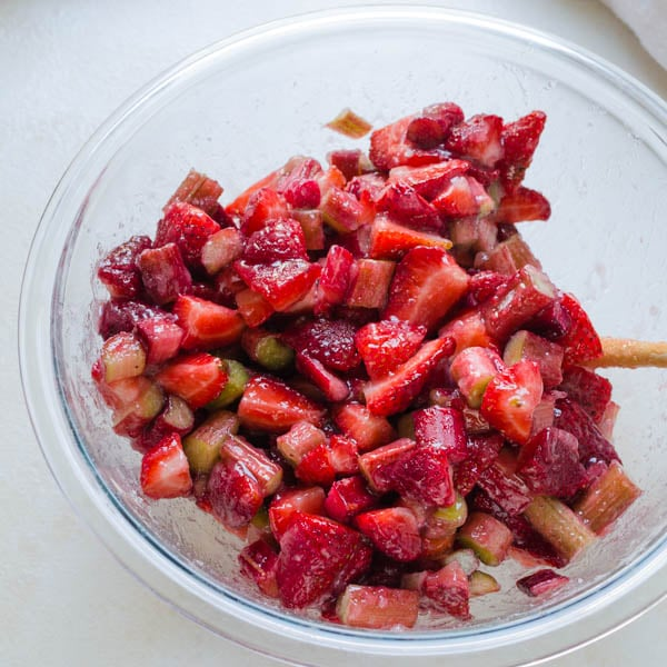 strawberry rhubarb galette filling.