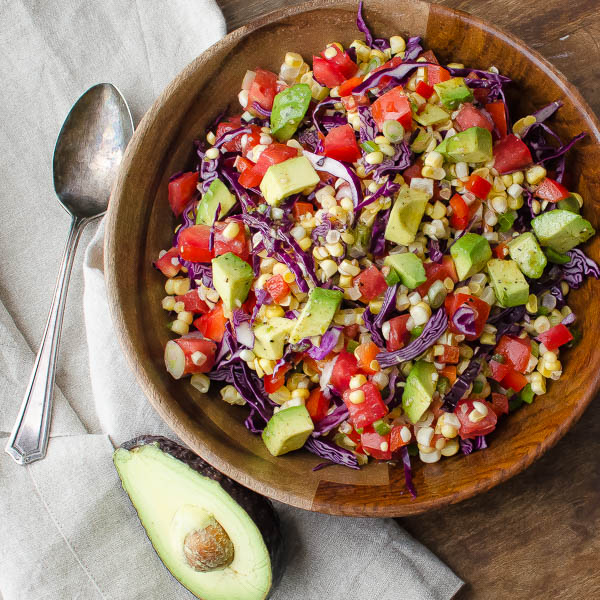 Fresh Corn and Avocado Salad   Garlic & Zest