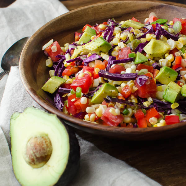 Fresh Corn and Avocado Salad