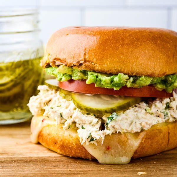 Cilantro Lime Spicy Tuna Salad Sandwich