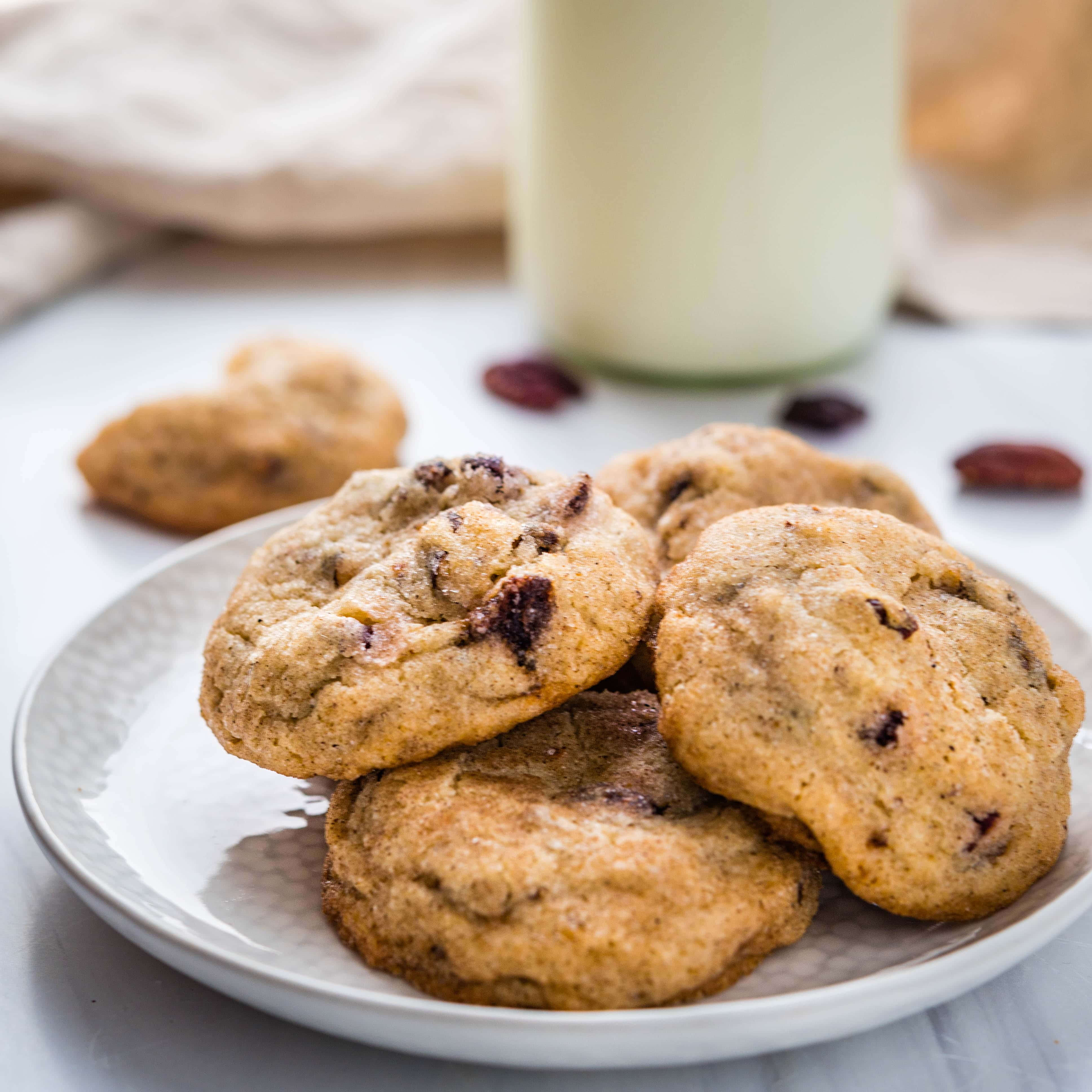 Cherry Pecan Cardamom Spice Cookies