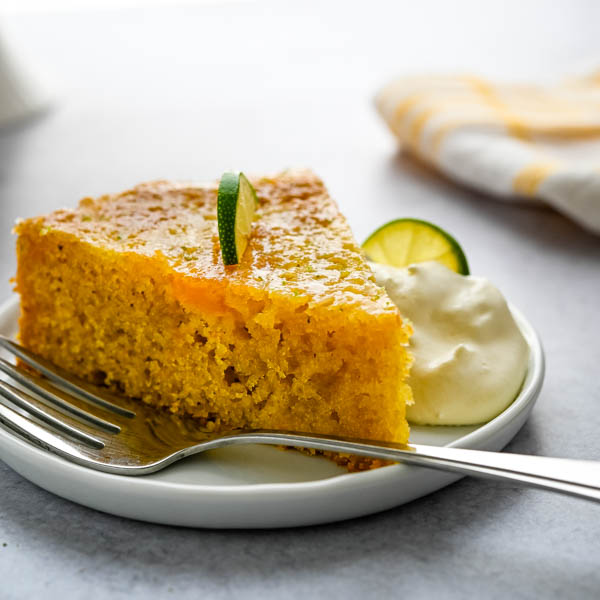 Super Moist Mango Lime Cornmeal Cake