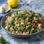 Quinoa Asparagus and Feta Salad