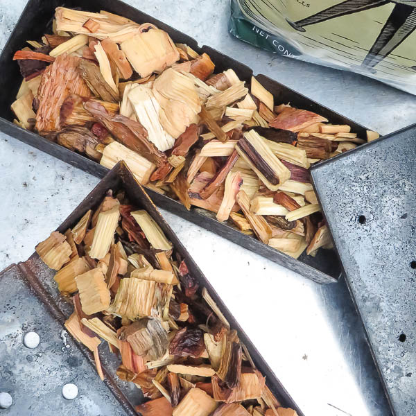 soaked wood chips