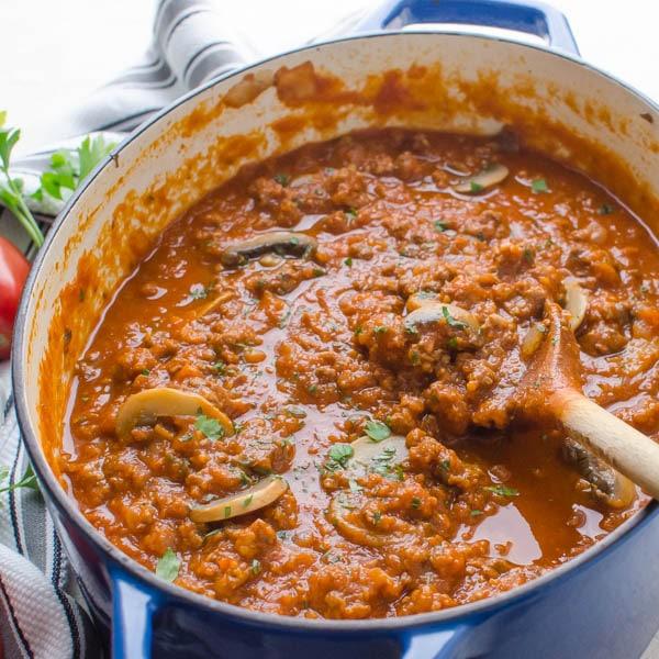 Sausage and Mushroom Ragout