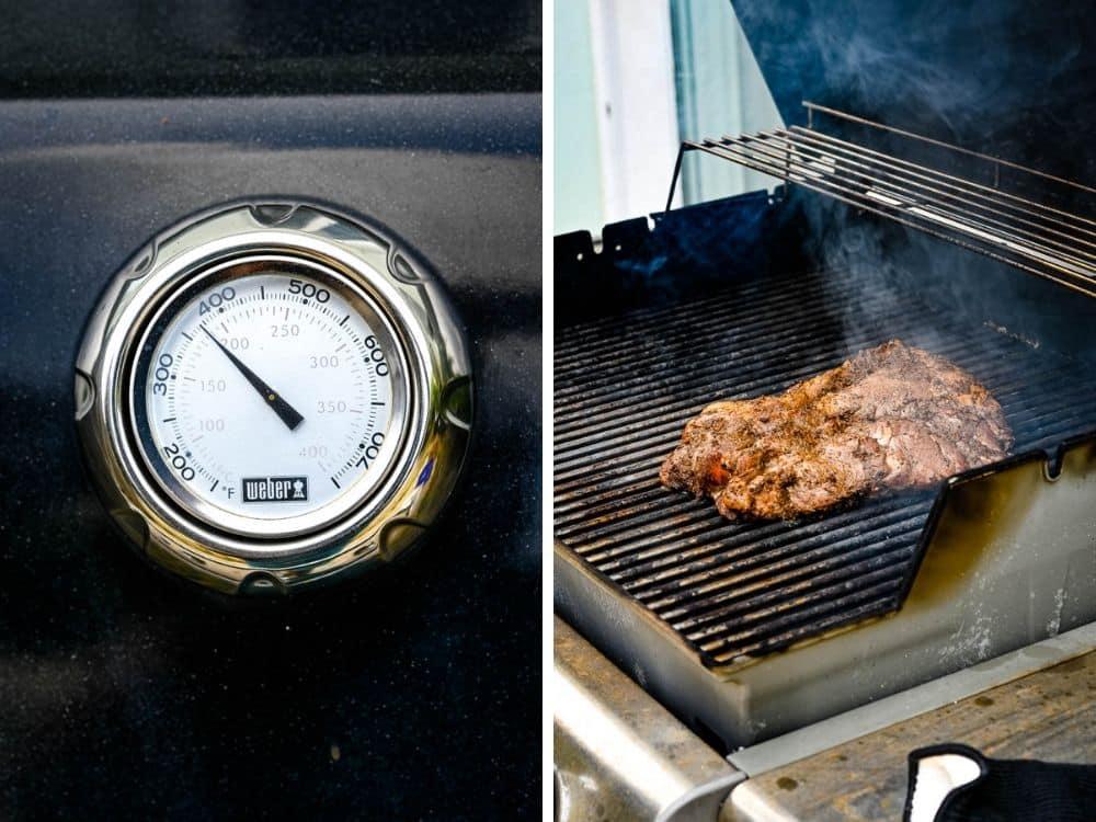 smoking the caribbean jerk smoked pork.