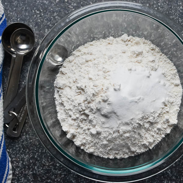 dry ingredients for Banana Bundt Cake