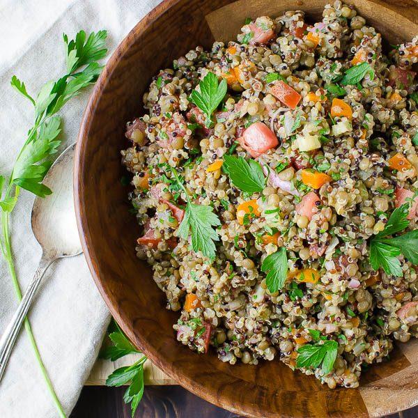 Tangy Lentils and Quinoa