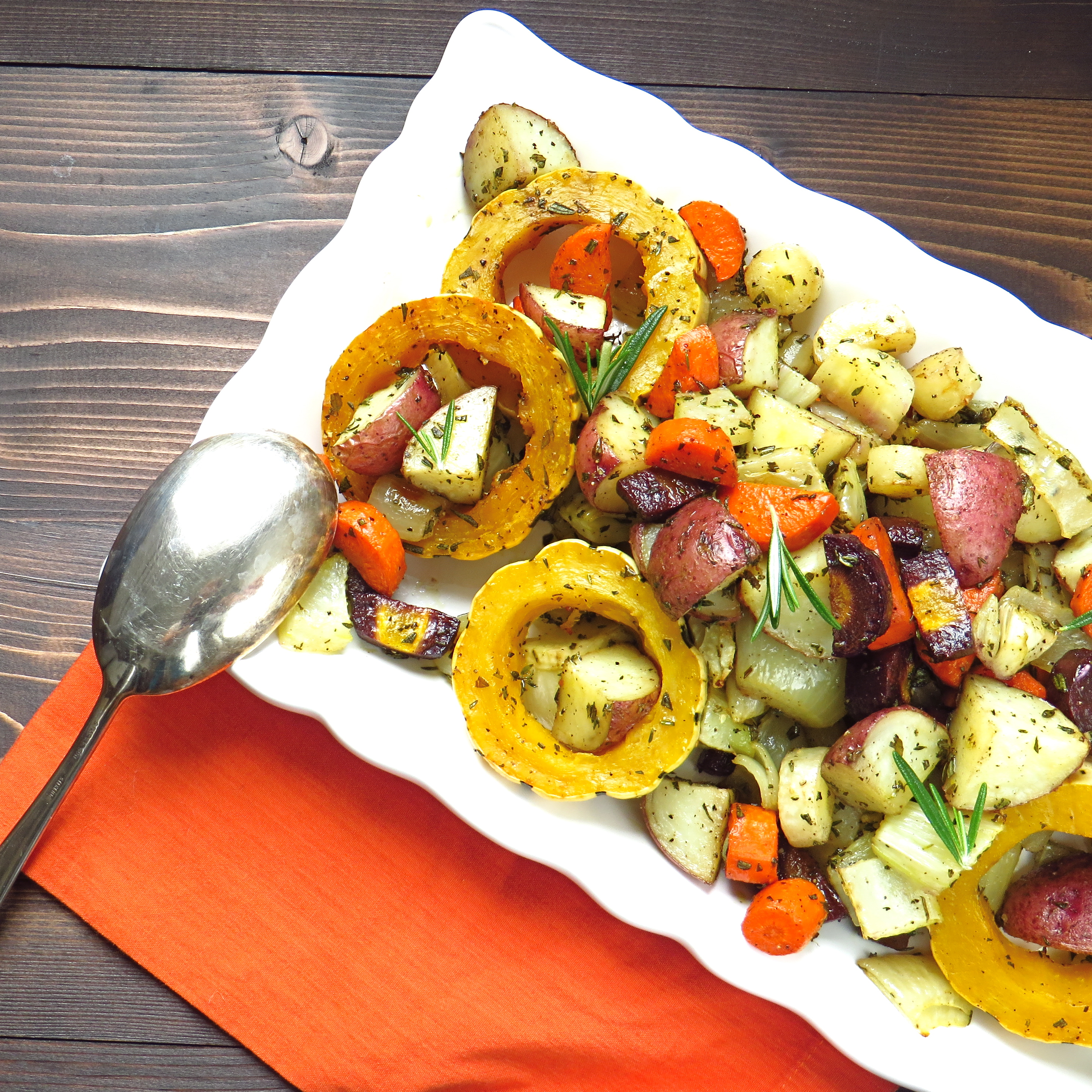 savory oven roasted root vegetables | Garlic + Zest