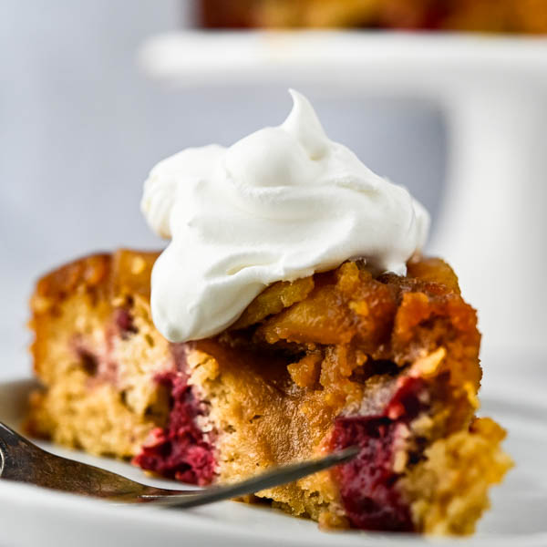 Cranberry Pear Upside Down Cake