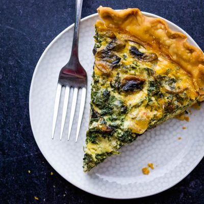 Kale and Mushroom Quiche