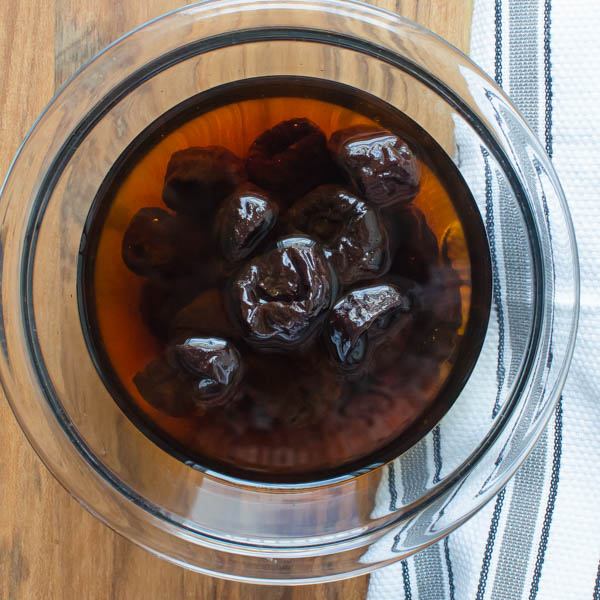 soak prunes in port wine