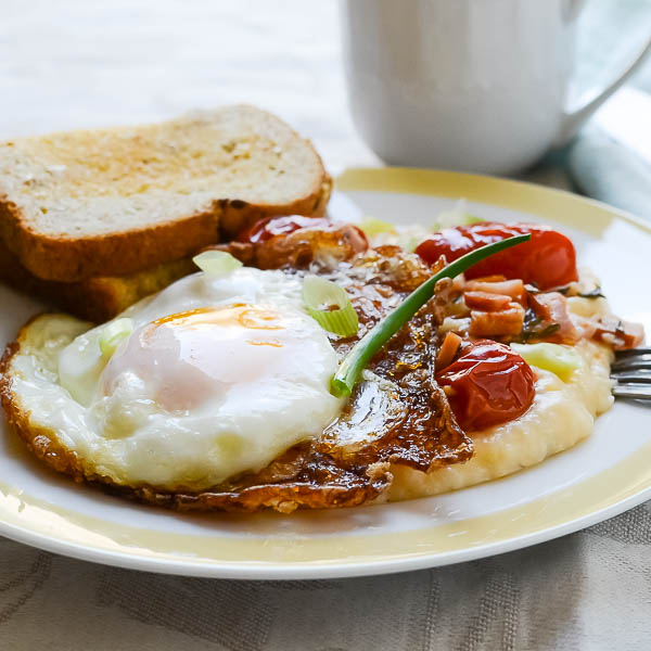 Southern Breakfast Stack with Frizzled Egg