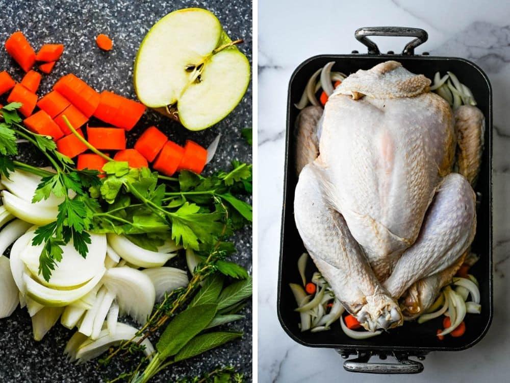aromatics for the moist turkey recipe.