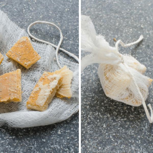 tying up parmesan rind