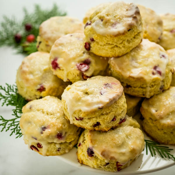Easy Homemade Cranberry Lemon Scones