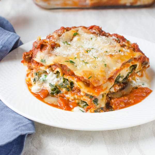 Spicy Sausage And Spinach Lasagna Garlic Zest