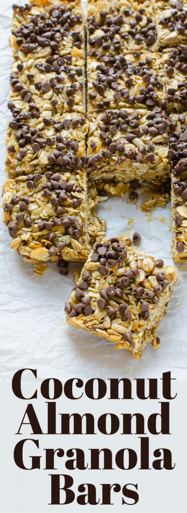 Homemade granola is easy to make and these Coconut Almond Granola bars with a hint of orange are the BEST!