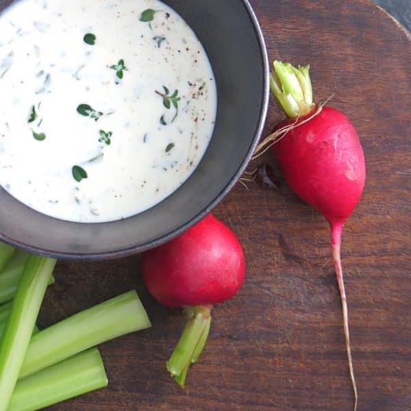 lemon herb buttermilk dressing | Garlic + Zest