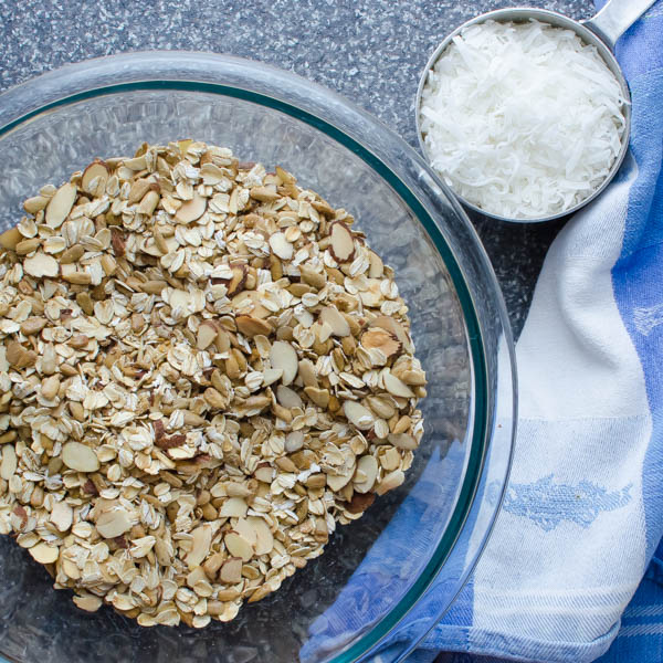 toasted oats and coconut