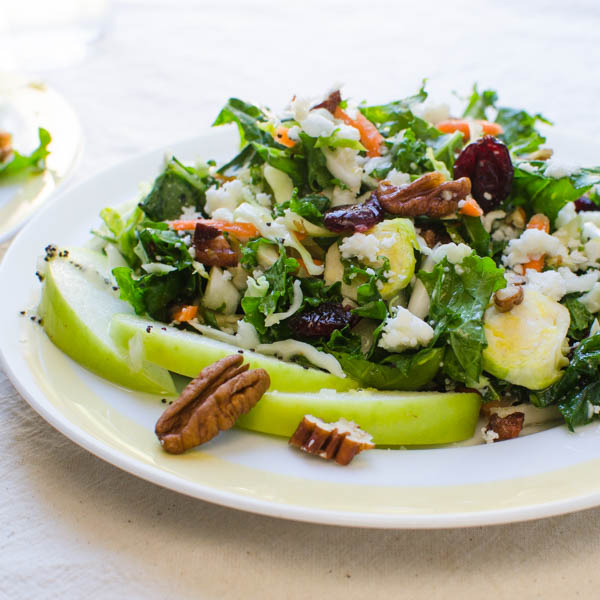 Crunchy Cabbage and Kale Salad