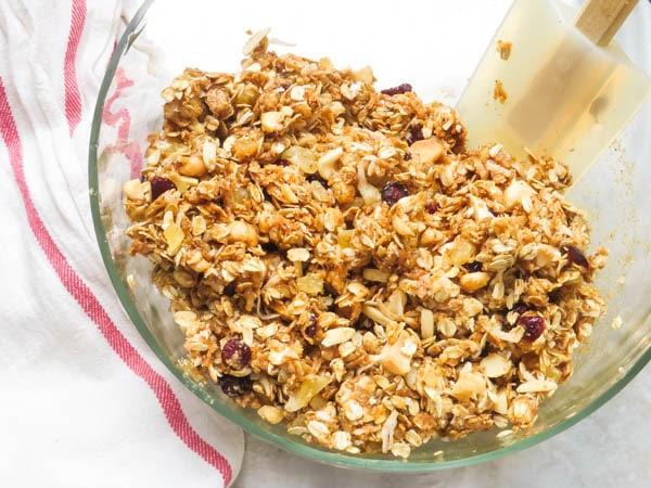 mixing granolas