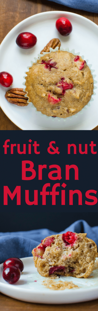 The best bran muffins recipe is here- fruit muffins - loaded w/goodies! Fruit and nut bran muffins are healthy & delish. A great raisin bran muffins recipe. #muffins #branmuffins #brunch #breakfast #apples #cranberries #raisinbran #pecans #almondmilk #eggs #healthybreakfast #christmas #newyearsday #easterbrunch #christmasbrunch #mothersday #bakingmuffins #muffinrecipe #branmuffinrecipe