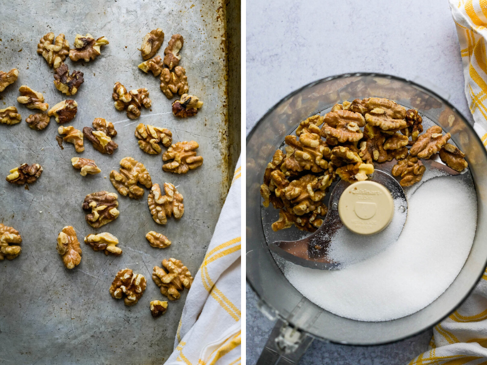 toasting nuts for ground walnuts.