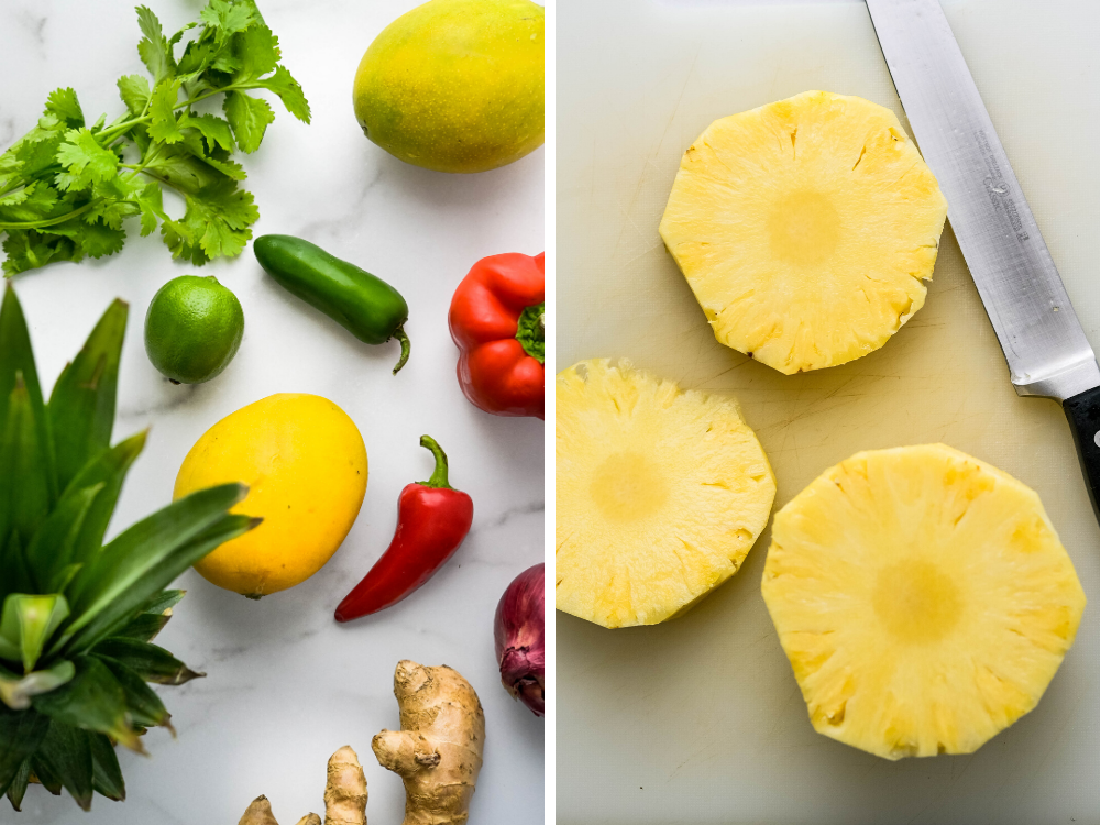 ingredients for tropical salsa