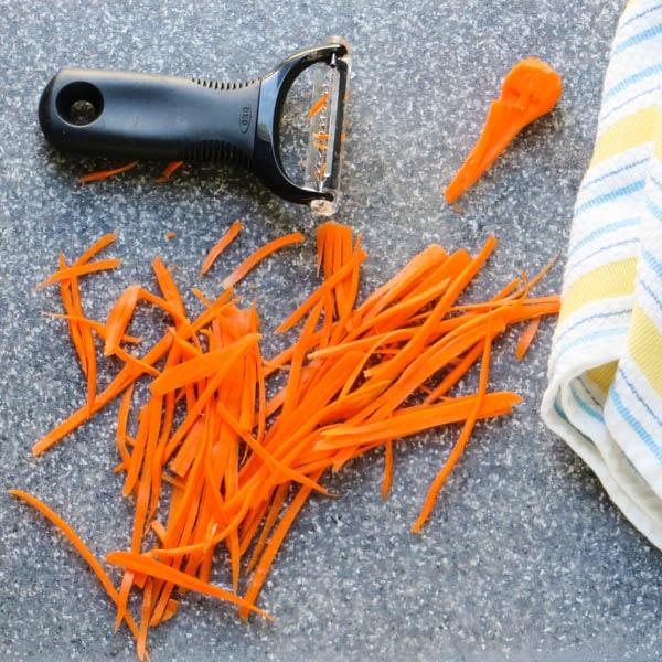 julienned carrots.