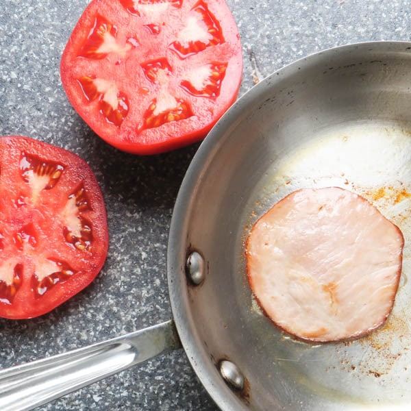 tomatoes and canadian bacon