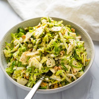 Crunchy Brussel Apple Fennel Slaw
